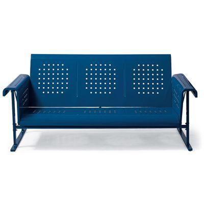 Retro Squares Glider Sofa For Patio Or Sunroom 499 Comes In Aqua Also