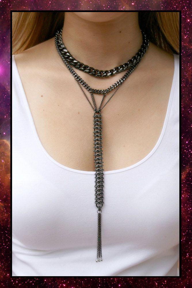 Dark Chain necklace.  Near Dark, Etsy