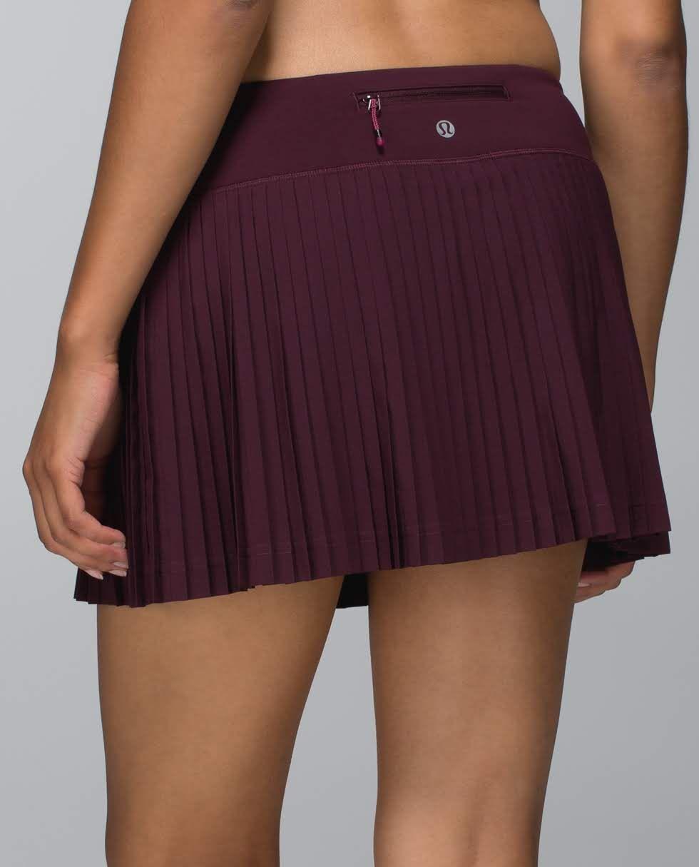 17ac723d77 Pleat to Street Skirt ~ Bordeaux Drama | Luluemon | Skirts, Dress ...