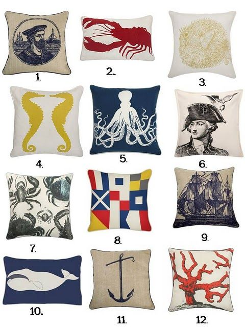 thomas paul nautical pillows beach house pinterest nautical nautical pillows and cushions. Black Bedroom Furniture Sets. Home Design Ideas