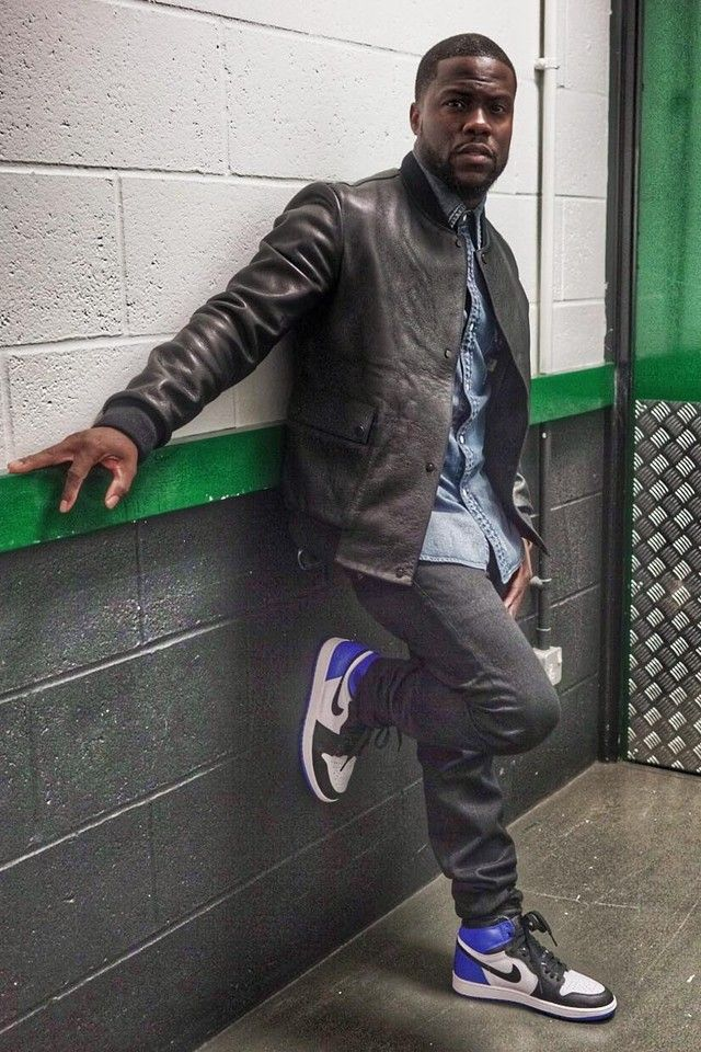 Kevin Hart wearing Nike x Fragment Design Air Jordan 1 Retro High Sneaker 84a5424c4