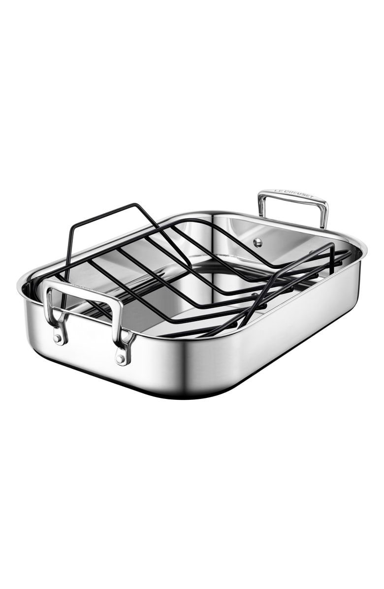 Free Shipping And Returns On Le Creuset Small Roasting Pan Roasting Cooking Cooking Accessories Roasting Pan Stainless Steel
