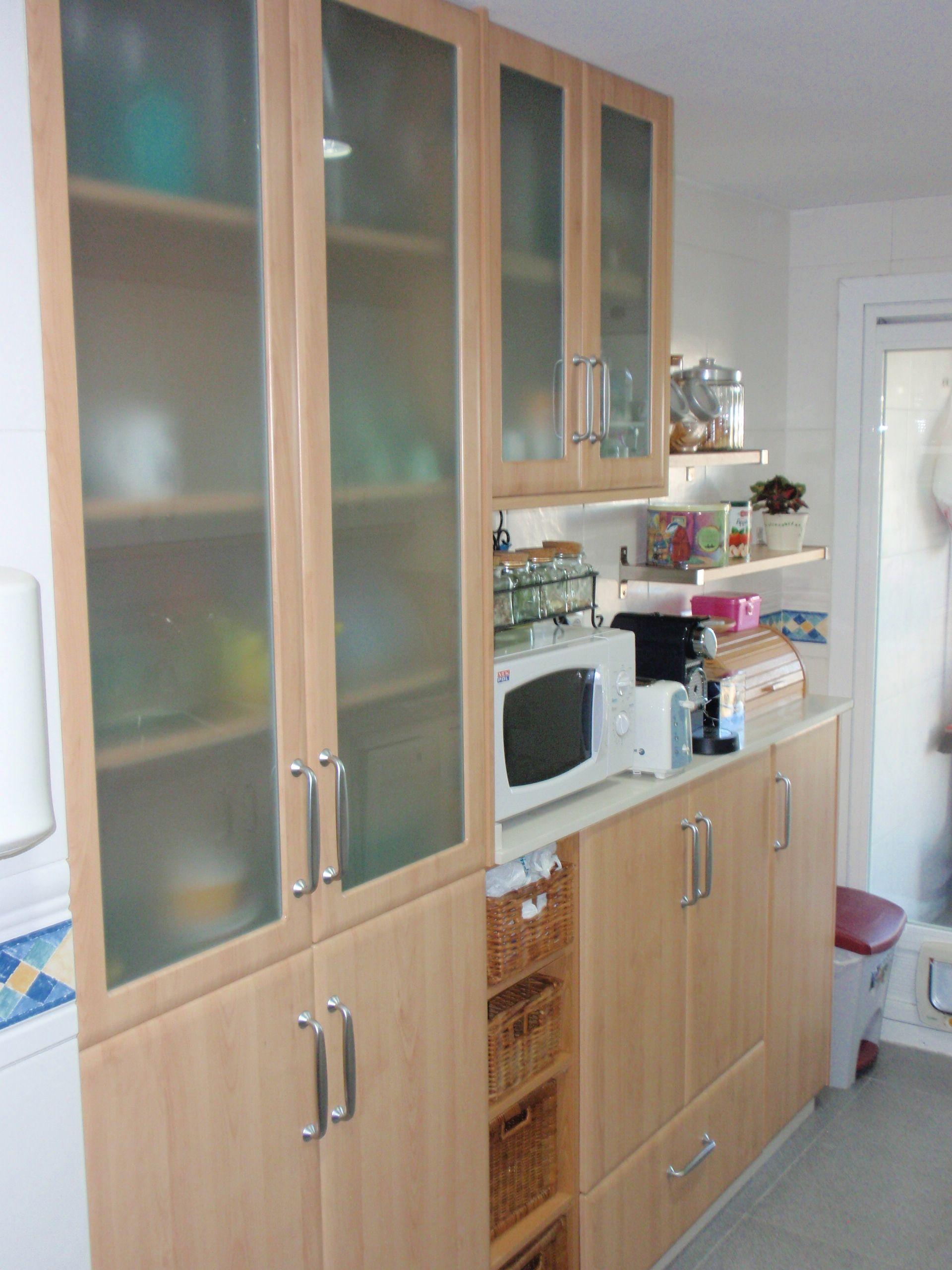 Vitrinas Para Cocina | Idea De Ampliacion Para Cocina Rectangular Mobiliario De Fondo