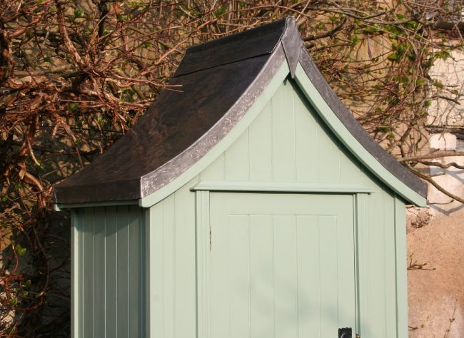 the handmade garden storage company exeter regency tool store lead roof detail - Garden Sheds Exeter