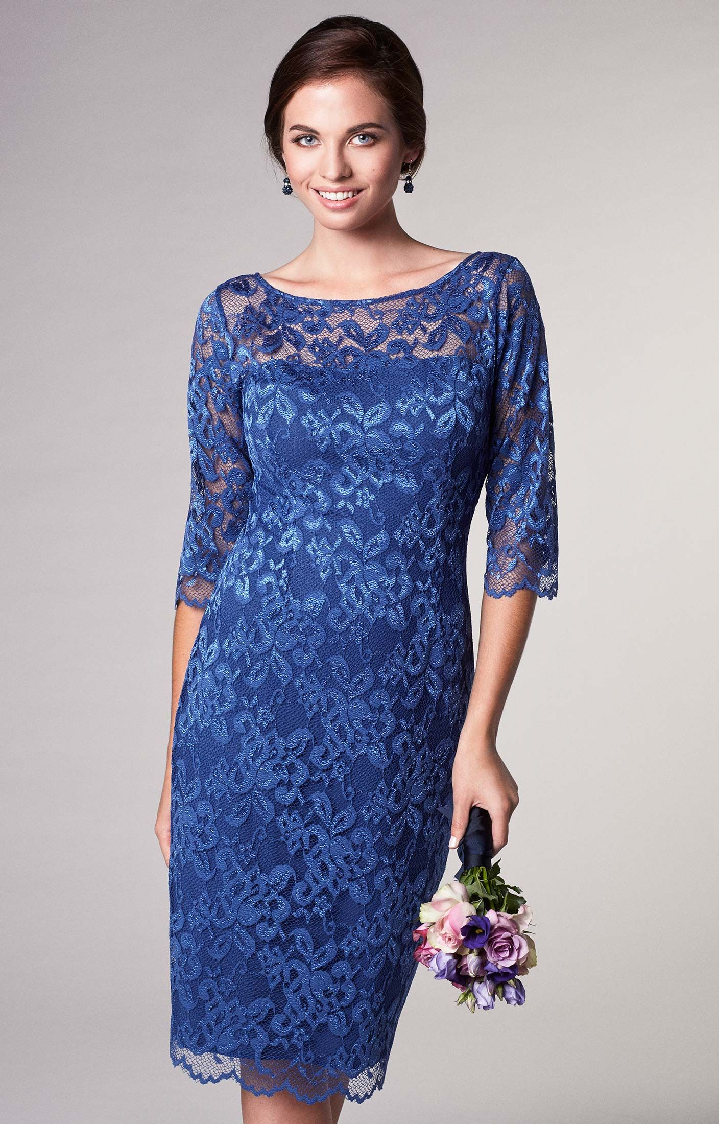 Kleid Lila Festlich kurz Windsor Blue  Lace evening dresses