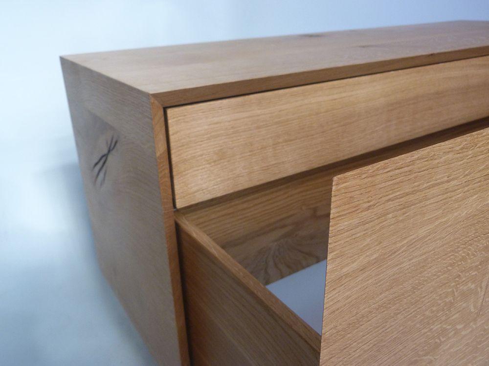 HOMEDESIGN Quercus Cube Sideboard Nina Terhardt Industrial - wohnzimmer sideboard design