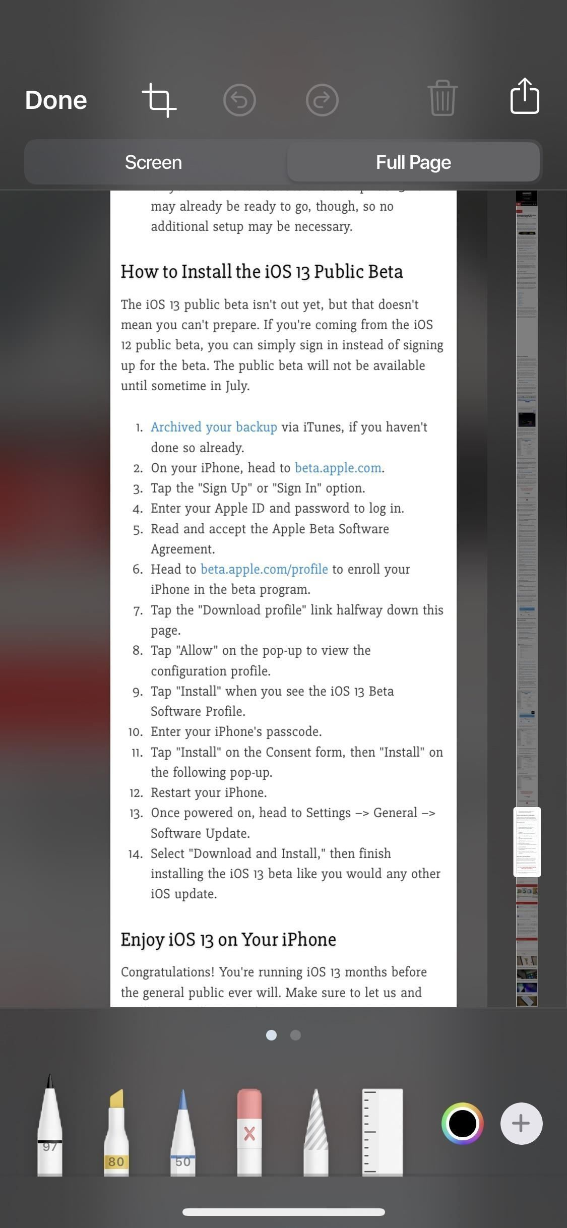How to Take Scrolling Screenshots of Entire Webpages in