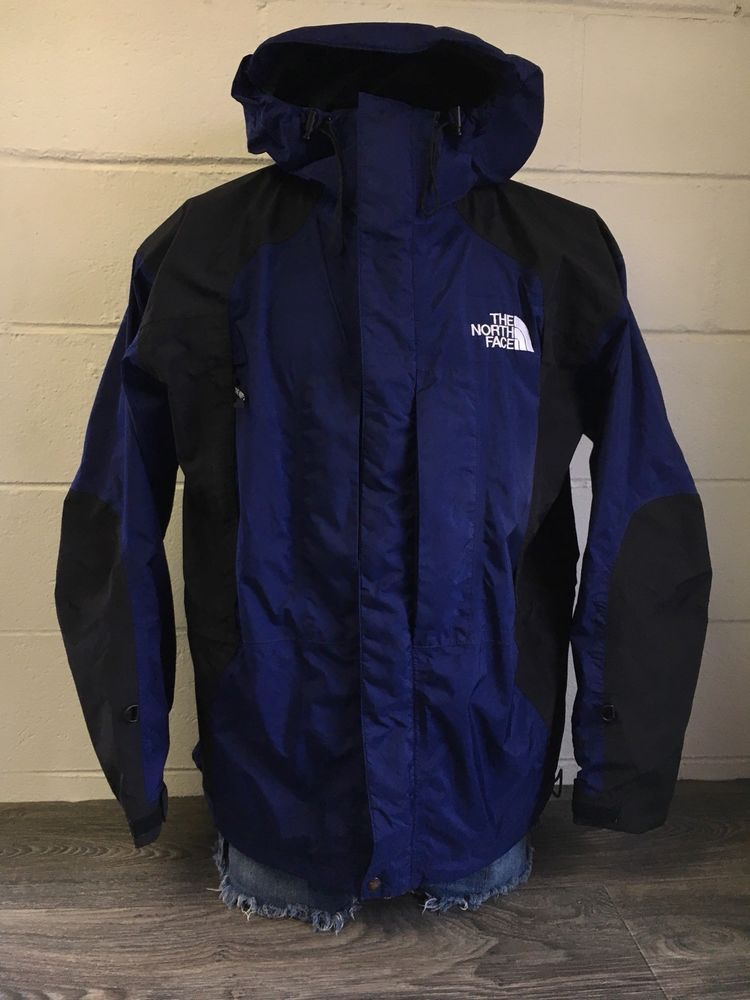 c39287bc2e4c NORTH FACE Jacket 90s Vtg Rain Coat Parka Shell Goretex Hood Blue Big Tag  Men XL  TheNorthFace  parkashell