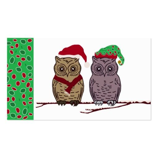 Santa owl and elf owl letter for santa business card santas merry santa owl and elf owl letter for santa business card colourmoves Gallery