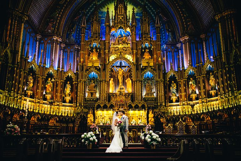 Notre Dame Basilica Wedding Weddings At Basilique In Montreal Best Venues For