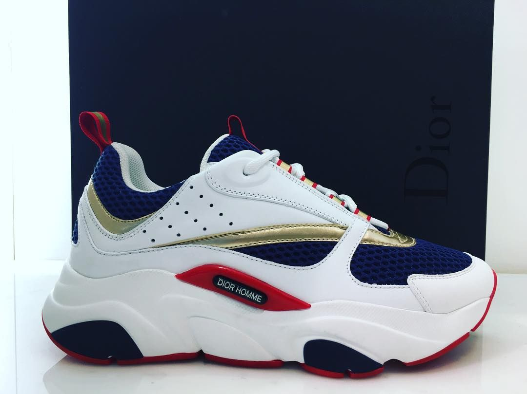 B22 by DIOR  dior  christian  paris  sneakers  sneakersaddict  b22  2018   new  newcollection  gold  blue  white  men  menstyle  winter  winter2018   luxury ... b9548897c5b