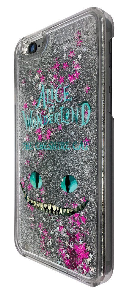 C0142 - Alice In Wonderland The Cheshire Cat Design For iphone SE   iphone  5 5S Fashion Trend CASE Protective Cover Liquid Floating Luxury Bling  Glitter ... 90412944fd
