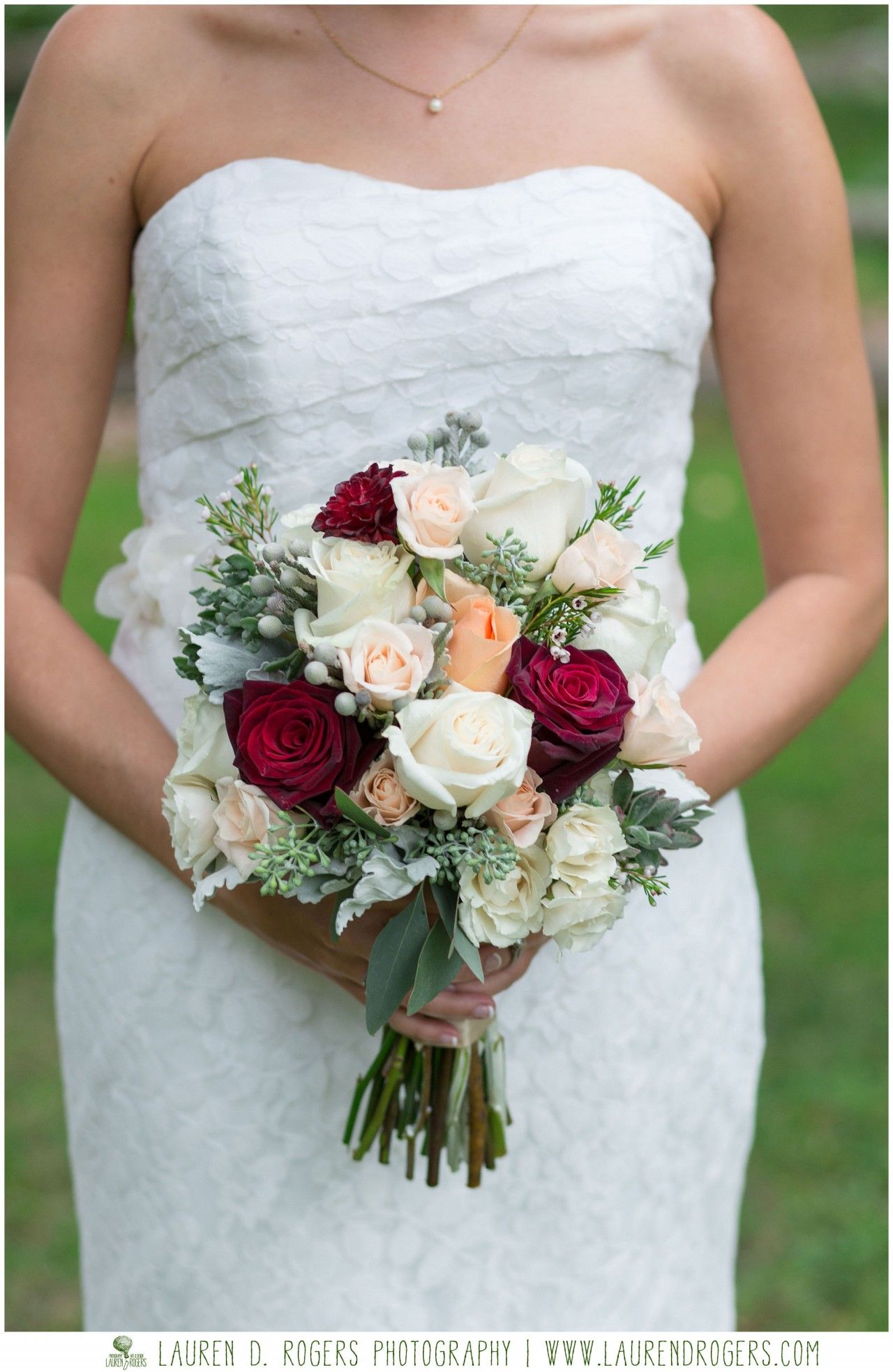 Red Ivory And Peach Bridal Bouquet Clic Wedding Flower Inspiration