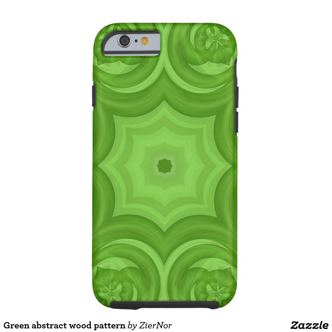 Green abstract wood pattern tough iPhone 6 case