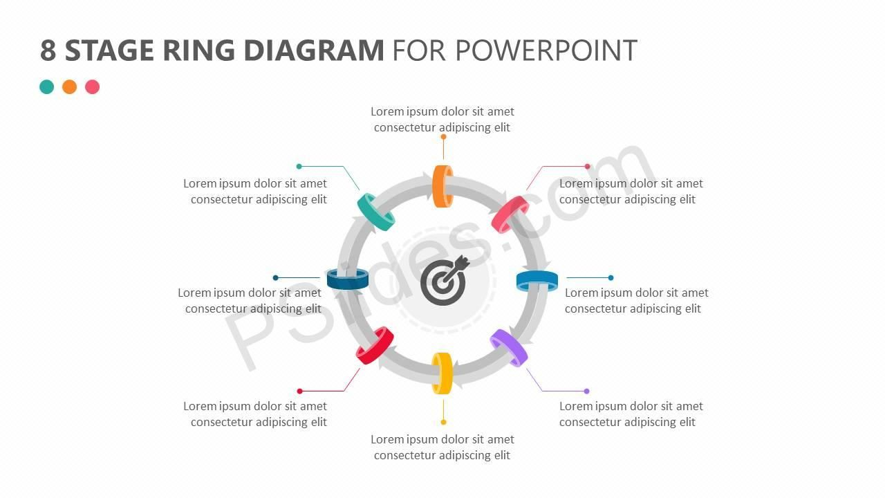 8 Stage Ring Diagram for PowerPoint Powerpoint, Diagram