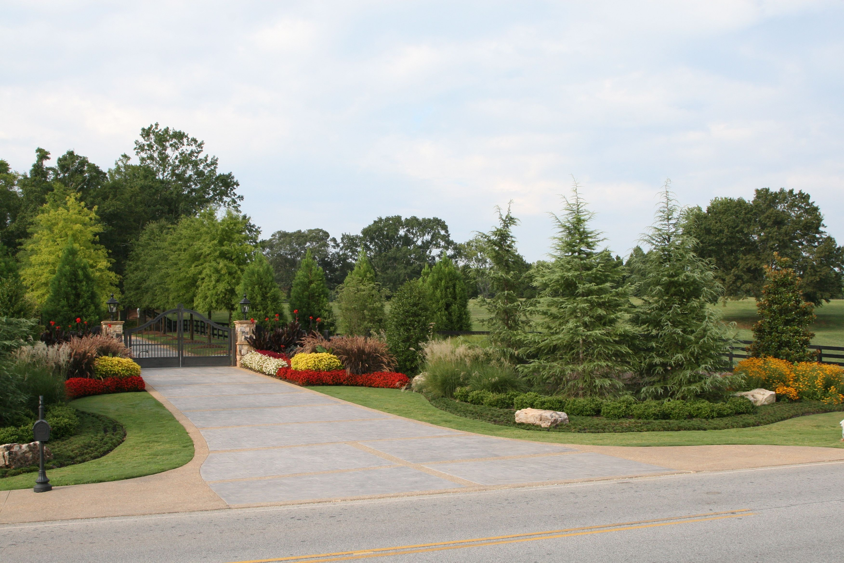Pin By Cheshire Woods On Driveway Gate Driveway Entrance Landscaping Driveway Entrance Driveway Landscaping