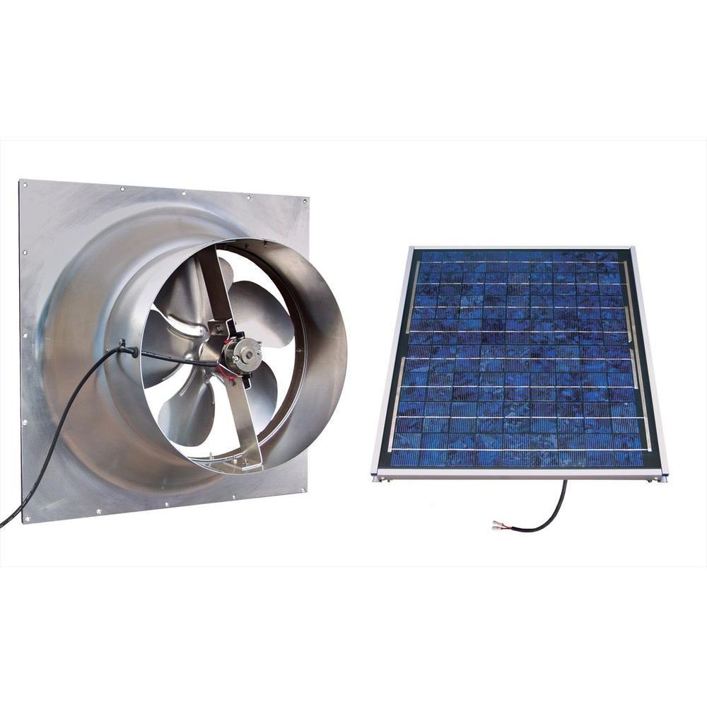 Solaratticfan Gable 20 Watt Solar Powered Attic Fan Silver