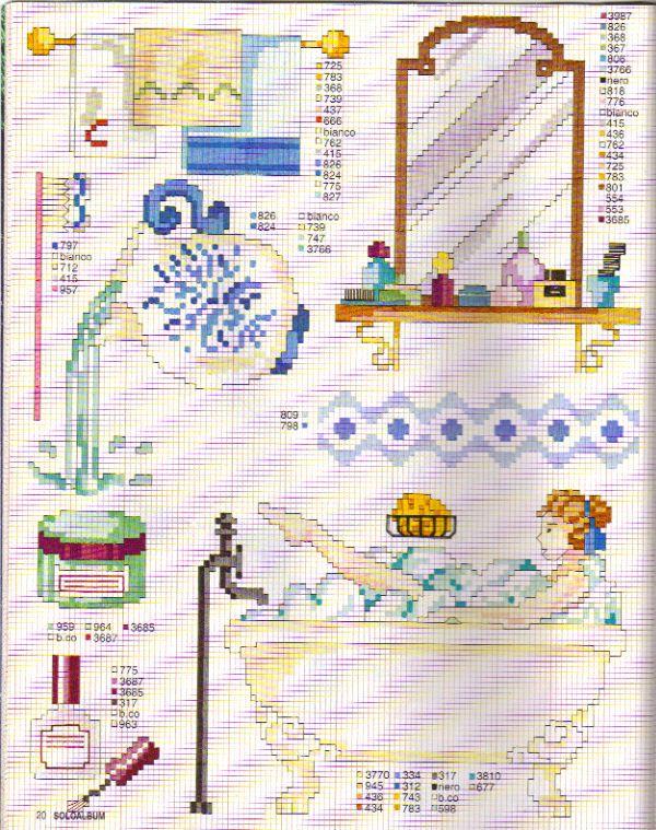 Punto croce monocolore bagno cerca con google punto de for Punto croce bagnetto