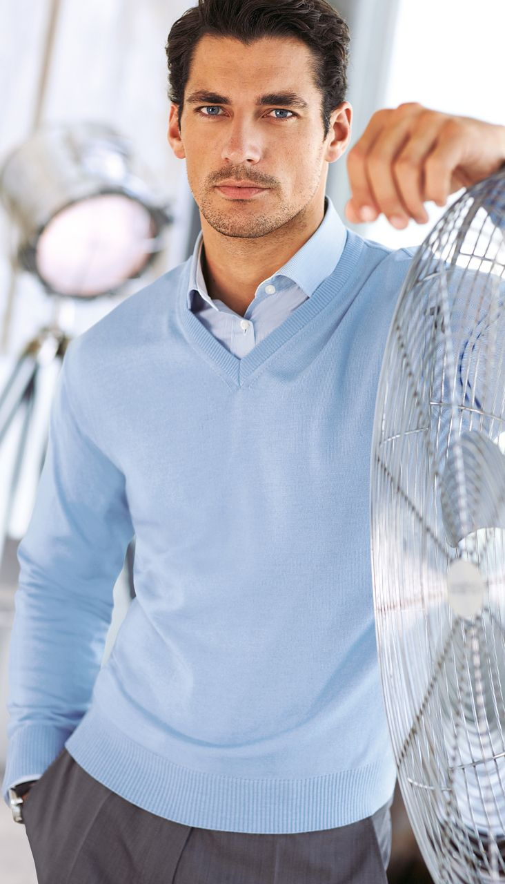 Love a dress shirt and sweater combo for a man during the fall ...