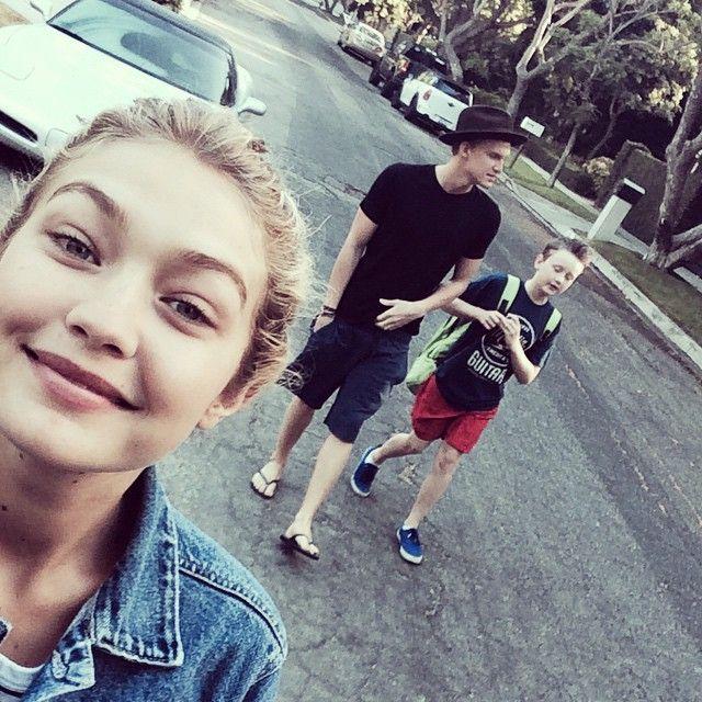 Gigi Hadid, Cody Simpson & Tommy Simpson