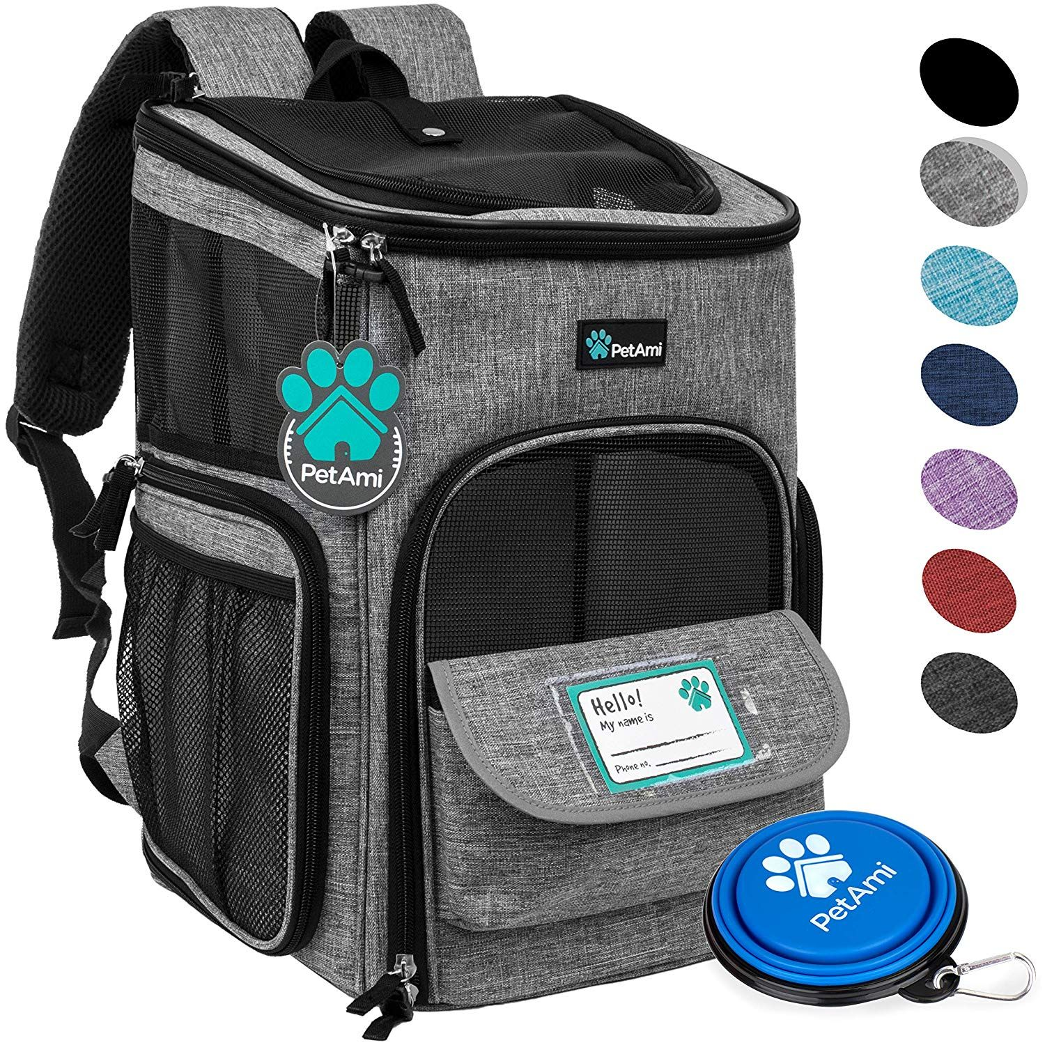 PetAmi Pet Carrier Backpack for Small Cats, Dogs, Puppies