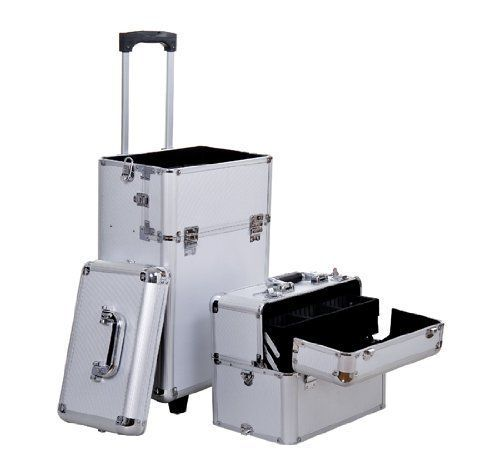 7b67a01e0500 Soozier 2in1 Professional Makeup Artist Cosmetic Rolling Train ...