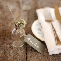 Metal Wedding Name Tags For The Table