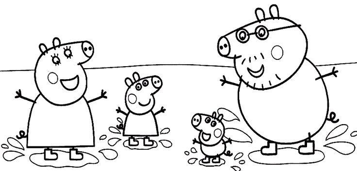 Peppa Pig Family Coloring Sheet Lynnette Marie Pinterest Peppa