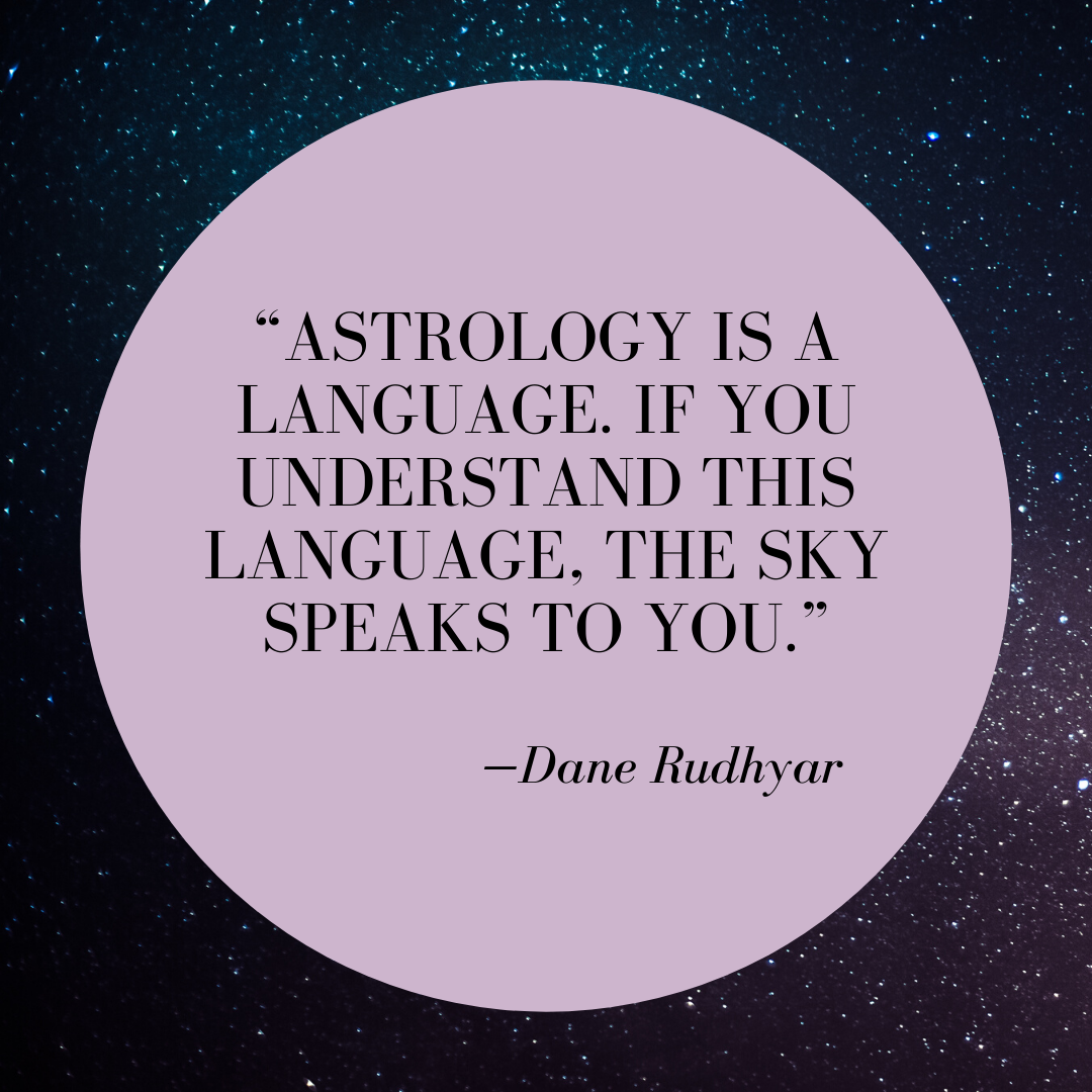 Astrology Quote Astrology is a language. If you understand this language, the sky speaks to you.