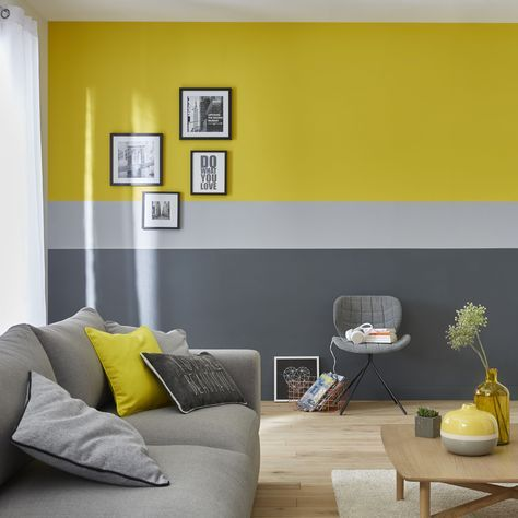 Salon Jaune Et Gris Living Room Decor Gray Yellow Living Room Living Room Paint