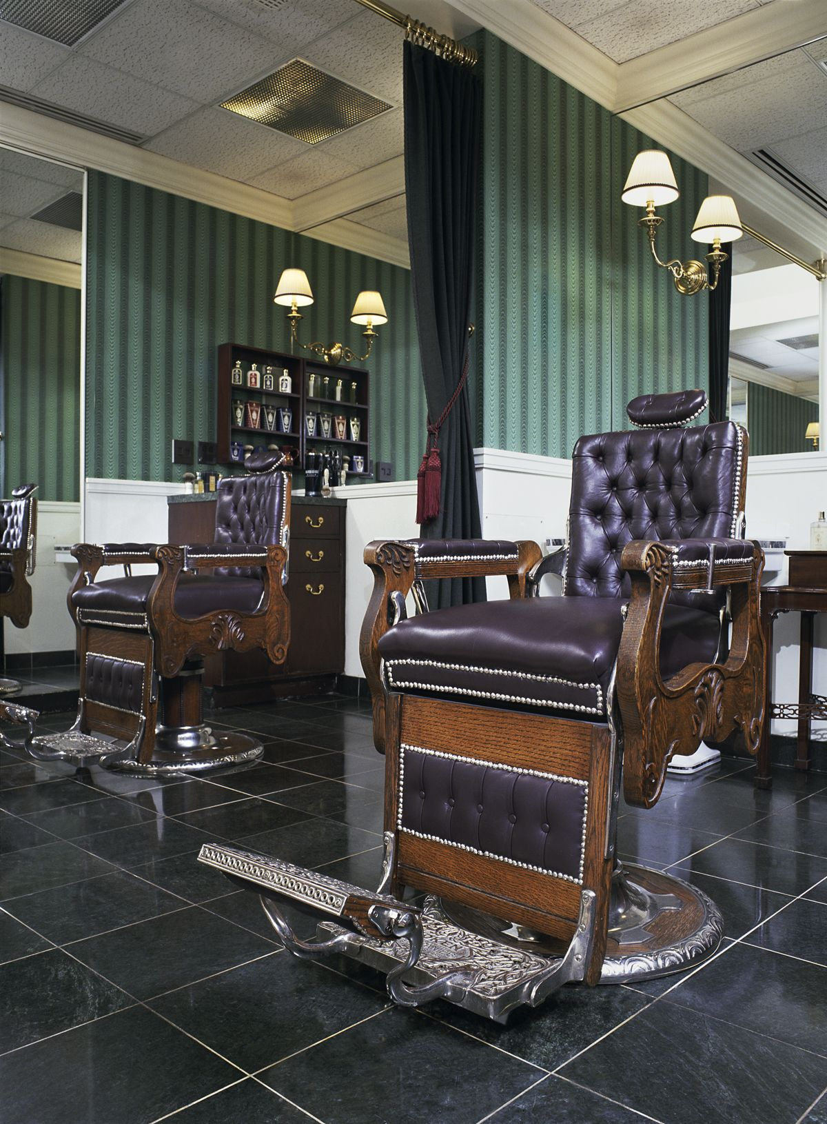 mobile barber chair chairs that pull out into beds 1905 koken design details of the