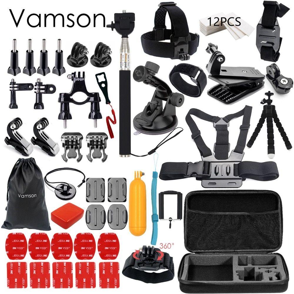 Vamson For Gopro Accessories Set For Go Pro Hero 5 4 3 Kit Mount For Sjcam Sj4000 For Xiaomi For Yi 4k For Eken H9 Tripod Vs84 Sets Gopro Gopro Zubehor
