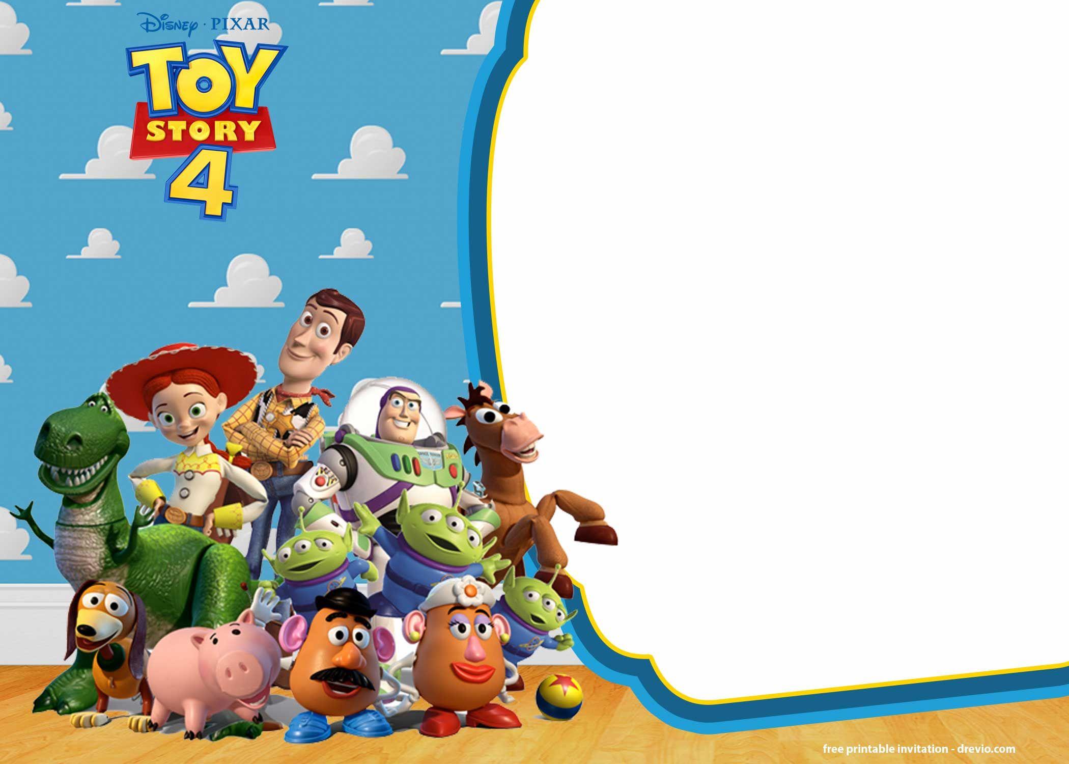 Free Printable Toy Story 4 Invitation Templates Toy Story Invitations Toy Story Birthday Party Toy Story Birthday Toy story invitation template download