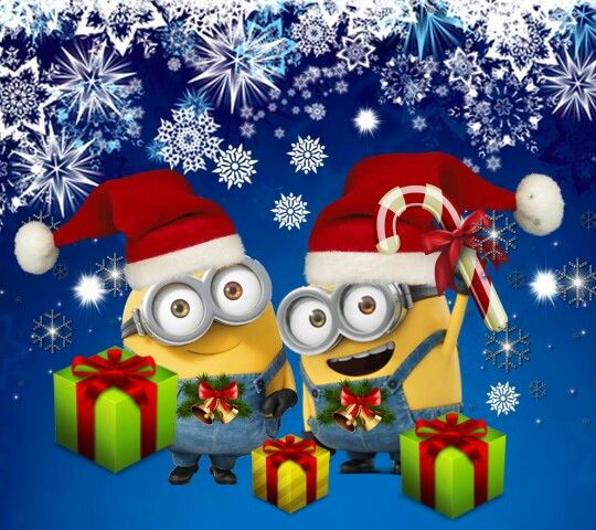 Pin By David On Xmas Kerstplaatjes Minion Christmas Minions Wallpaper Minion Craft