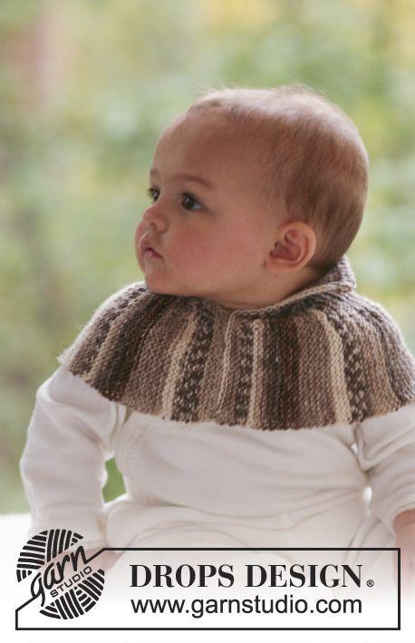 Woodland Elf Cowl / DROPS Baby 18-6 - Cuello de punto en punto musgo ...