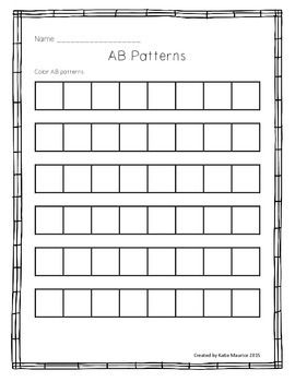 this activity allows students to practice ab patterning in different ways students can use bingo. Black Bedroom Furniture Sets. Home Design Ideas