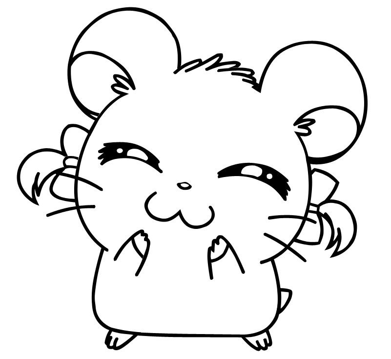 Hamtaro Colouring Page By Kiwi Heartz Deviantart Com On