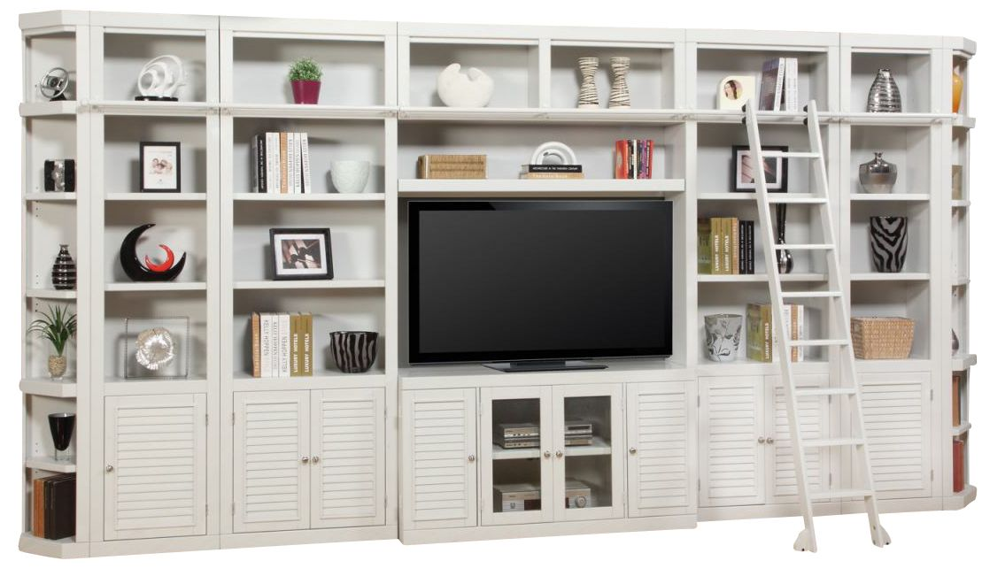 Parker House Boca 9 Piece Library Wall In Cottage White