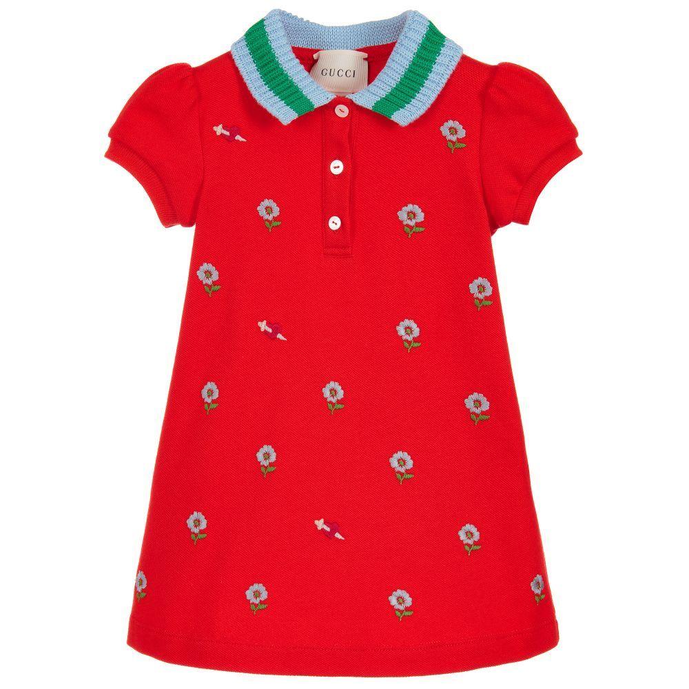 10d9f20c2 Gucci - Orange Cotton Piqué Baby Dress
