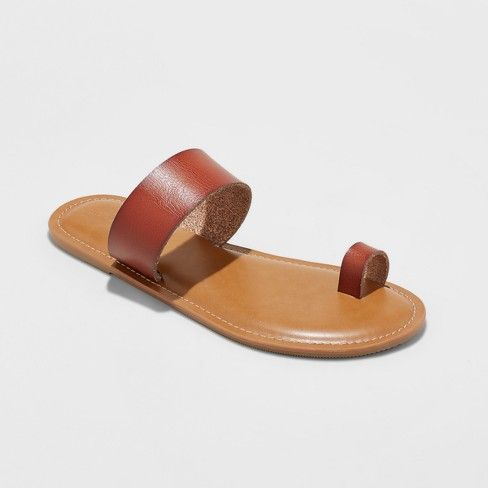 b11cbe1e6535 Women s Kessie Slide Sandal - Universal Thread Cognac (Red) 8 ...