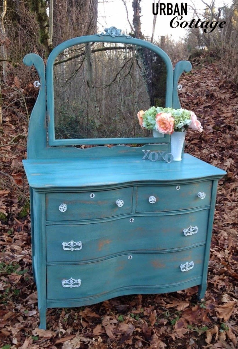 URBANCottage: Antique Dresser painted in a custom mix of Miss ...
