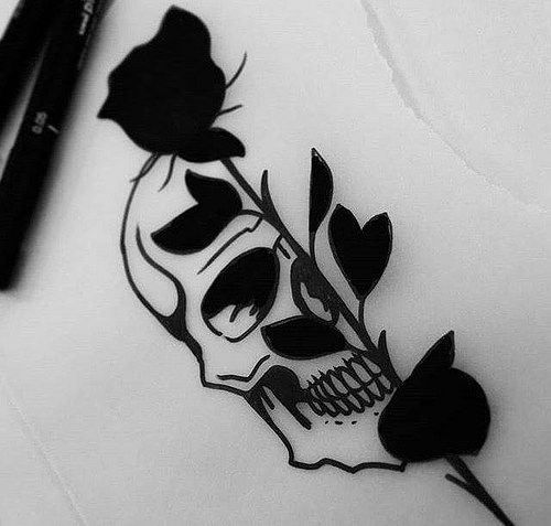 Photo Calaveras Y Rosas Tatuajes Tatuajes Chulos
