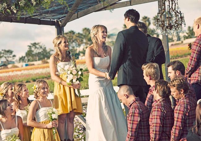 Real Wedding Carey Craig S In A Flower Field