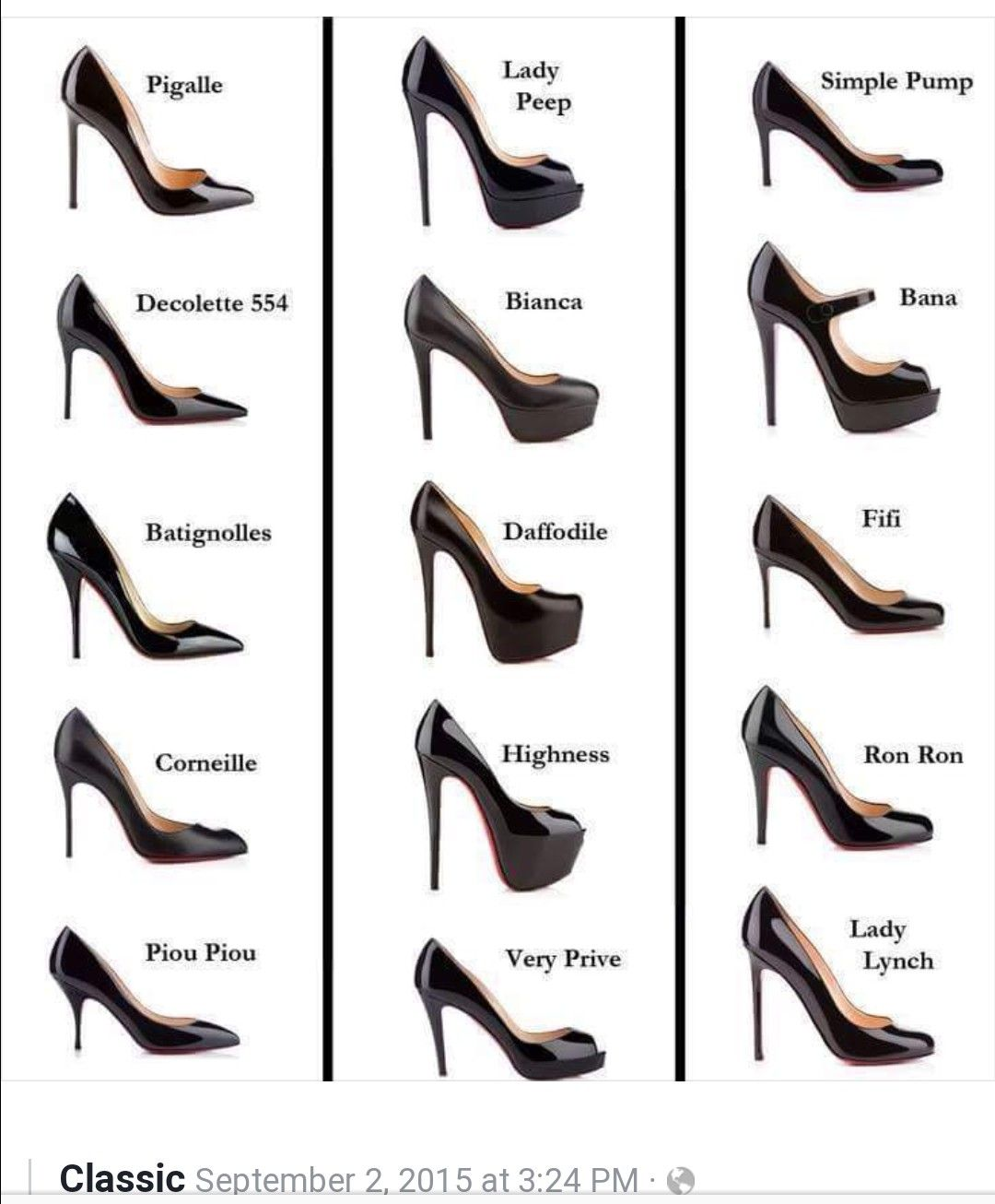 8b2d61422b1 There s a name for every heel even if it looks almost identical. There s no  such thing as just a plain black pump stiletto! - narrow womens shoes