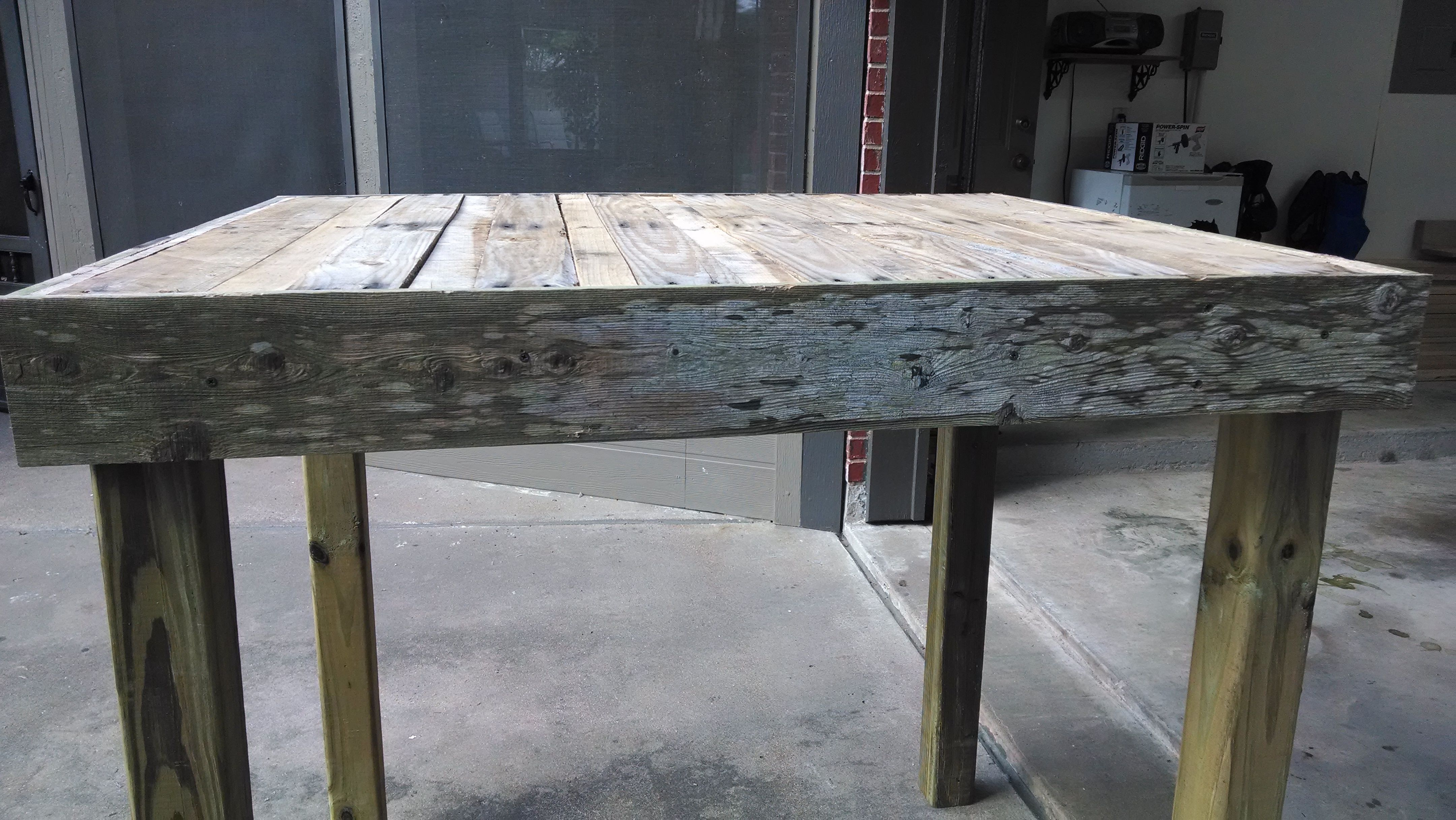 Bar Height Pallet Table