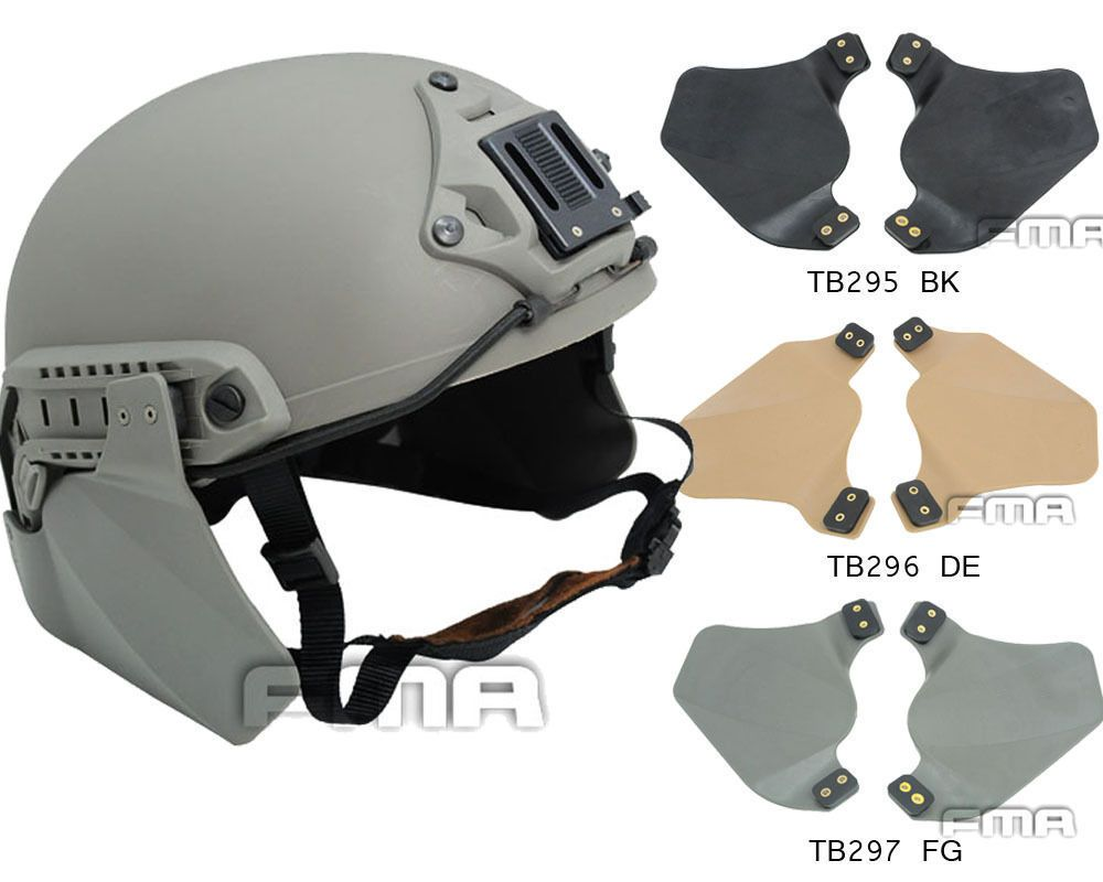 Tactical Helmet Protective Pad Side Cover for Helmet Rail Protective Accessories