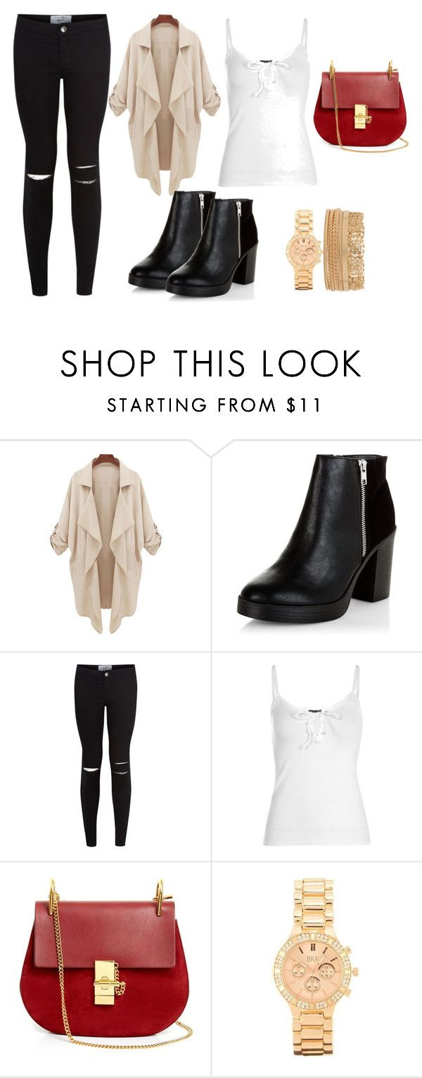 """fdxr56t7yuijknm"" by v-askerova on Polyvore featuring мода, New Look, Chloé, BKE и Forever 21"