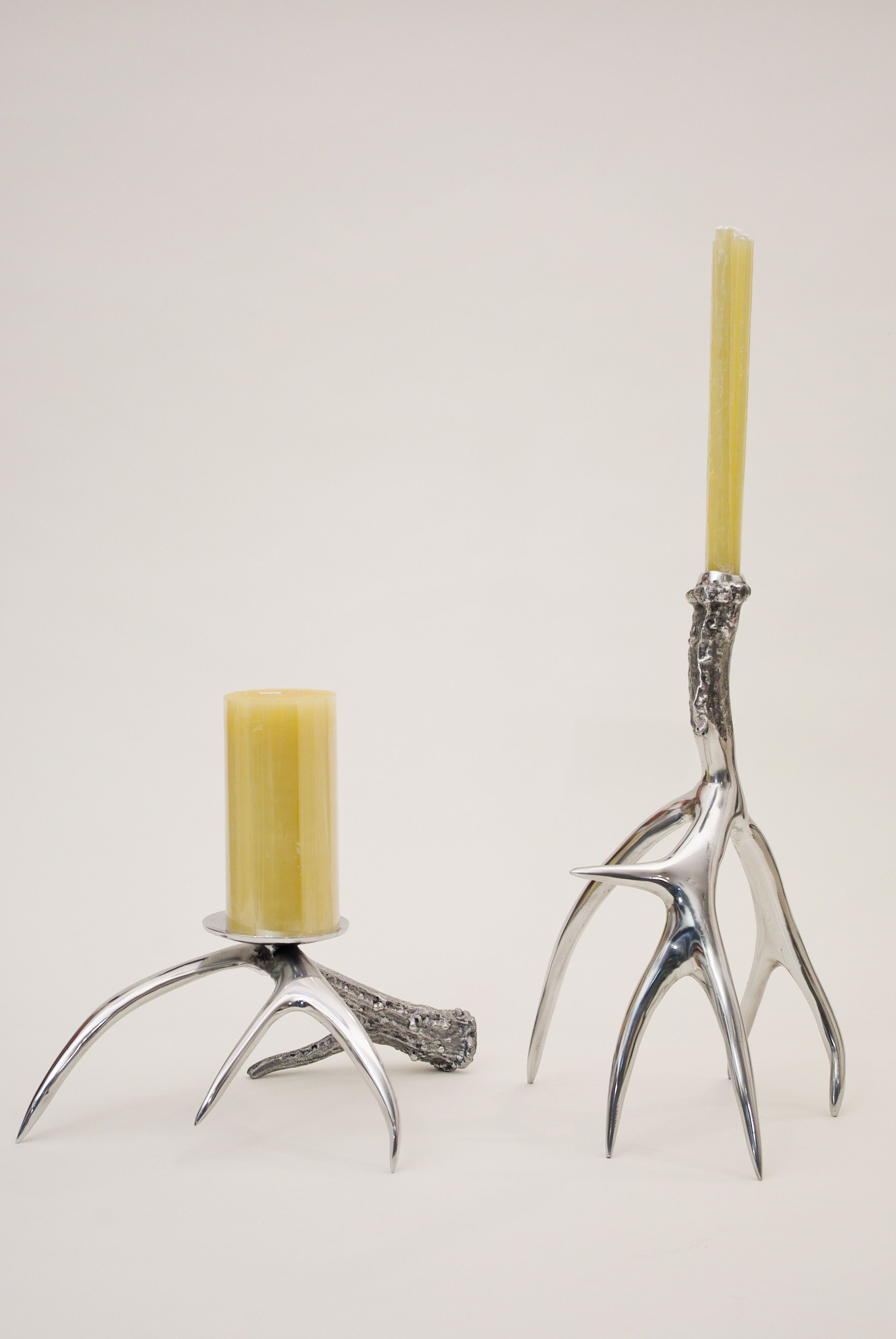 Polished Antler Candle Holders by Roost Small Pillar $60.00; Tall ...