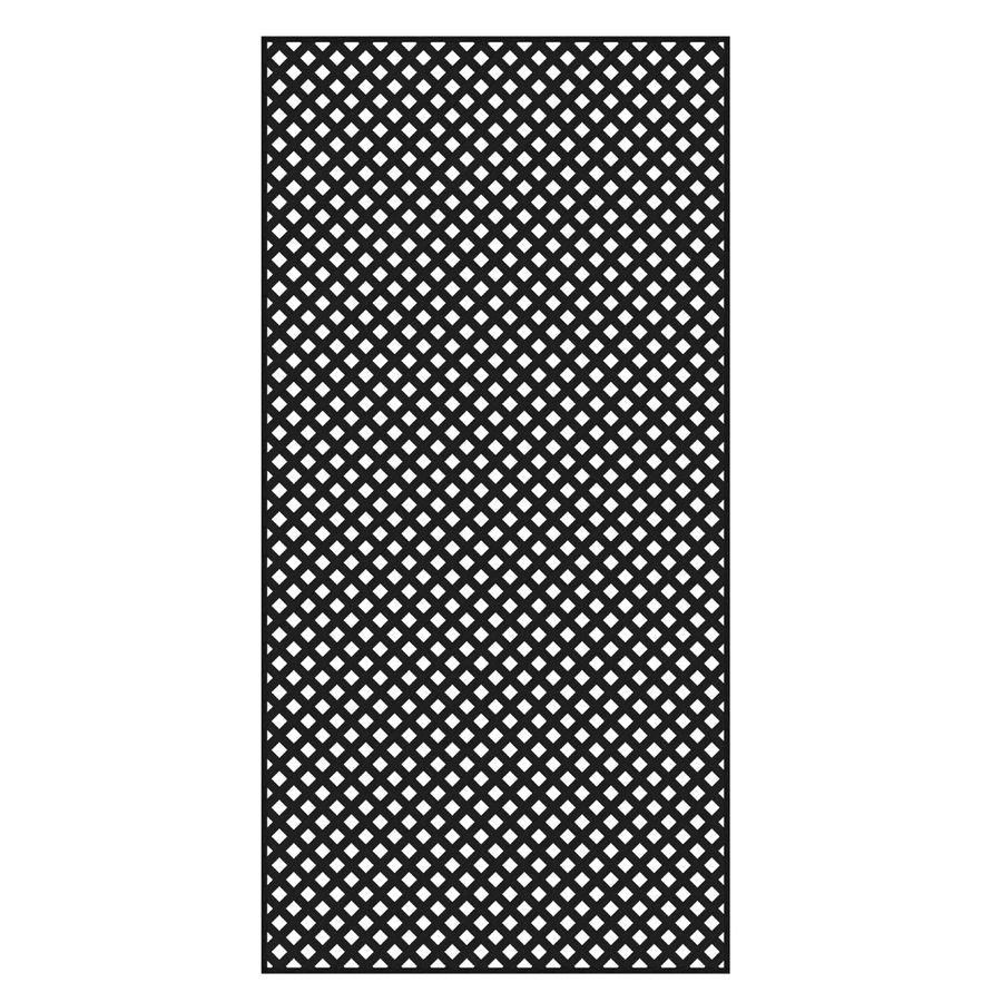 Freedom Common 1 4 In X 48 In X 8 Ft Actual 0 19 In X 47 53 In X 7 92 Ft Black Vinyl Privacy Lattice Lowes Com Plastic Lattice Decorative Screen Panels Black Vinyl