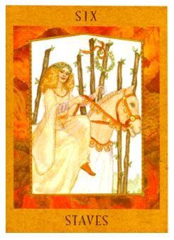 October 14 Tarot Card: Six of Wands (Goddess deck) Good things are breezing your way now -- you work hard. and you deserv… | Wands tarot. Tarot ...